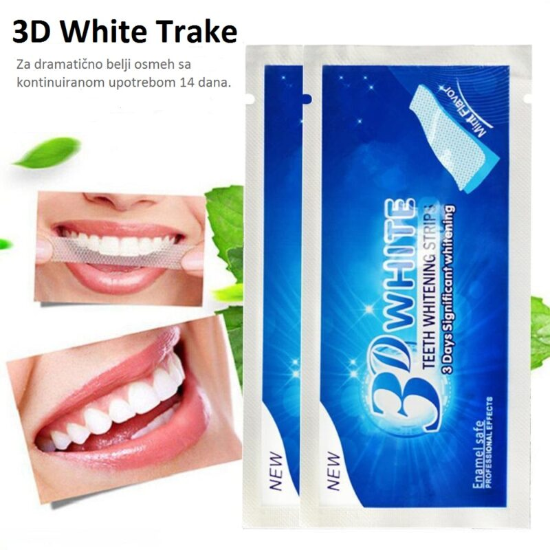 3d white trakice za beljenje
