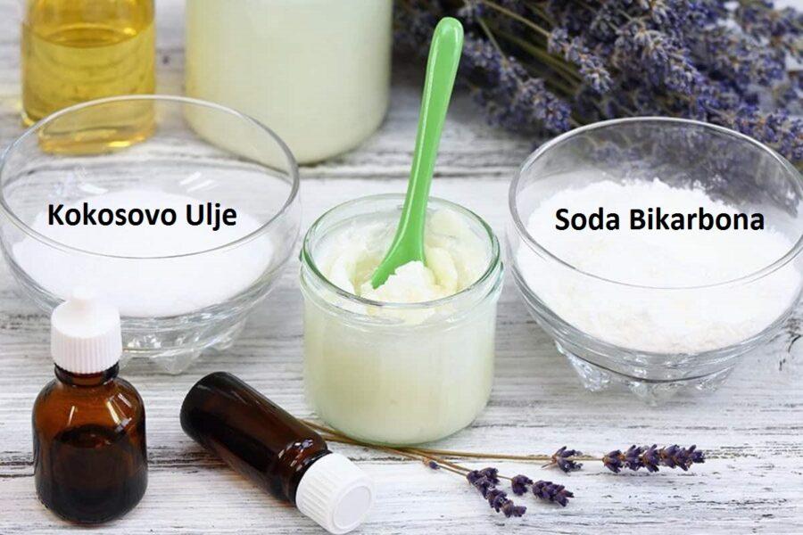Kokosovo ulje i soda bikarbona kao prirodna pasta za zube