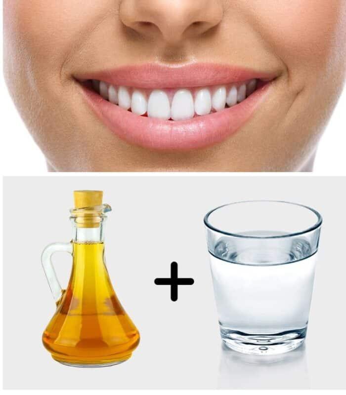 Mućkanje jabukovim sirćetom i vodom